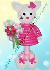 КИТТИ (HELLO KITTY) ИЗ ШАРОВ