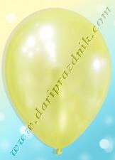 200204 ШАР С ГЕЛИЕМ - ЛАТЕКС ПЕРЛАМУТР БЕЗ РИСУНКА - СВЕТЛО-ЖЕЛТЫЙ (ПОЛУПРОЗРАЧНЫЙ)