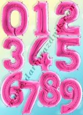 400023 ШАР-ФОЛЬГА ЦИФРА 102 СМ - РОЗОВАЯ ФУКСИЯ - GRABO (ИТАЛИЯ)